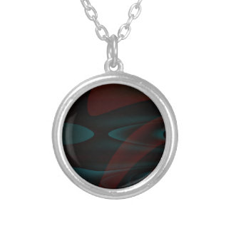 Dark chapter round pendant necklace