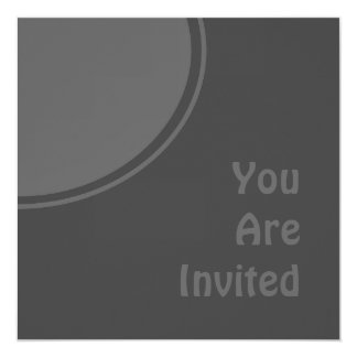 Dark Charcoal Grey Modern Party Invite