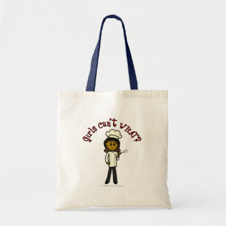 Dark Chef Girl Tote Bag