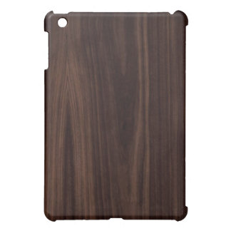 Dark Chocholate Faux Wood Pattern iPad Mini Case