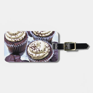 Dark Chocolate Cupcakes - Sweet Bakery Print Luggage Tag