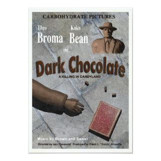 "Dark Chocolate Movie 5"" X 7"" Invitation Card"