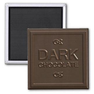 Dark Chocolate Square Refrigerator Magnets