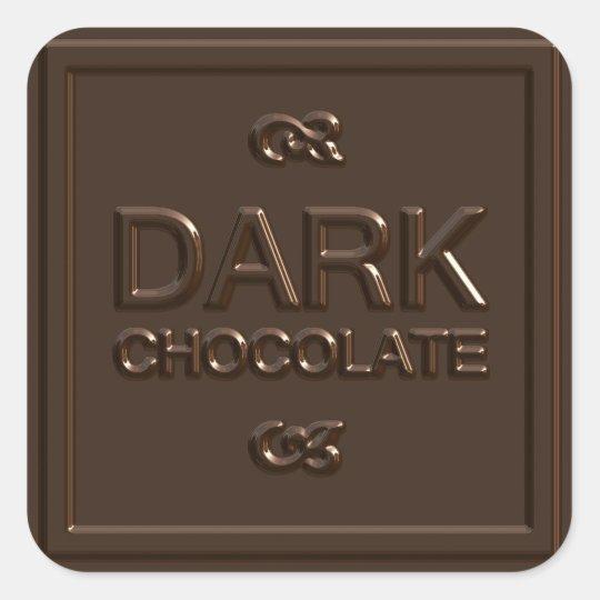 Dark Chocolate Square Square Sticker