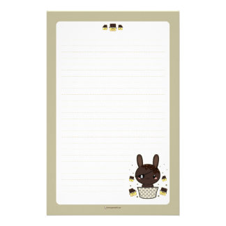 Dark Chocolate Truffle Bunny Stationery