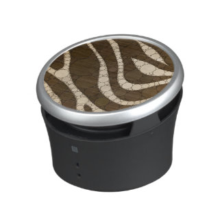 Dark Chocolate Zebra Abstract Speaker