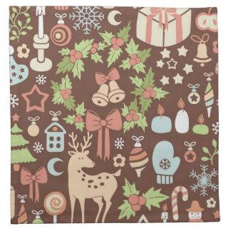 Dark Christmas background Napkin