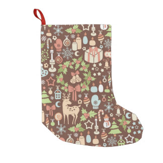Dark Christmas background Small Christmas Stocking
