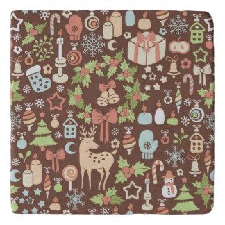 Dark Christmas background Trivet