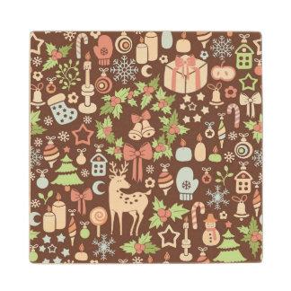 Dark Christmas background Wood Coaster