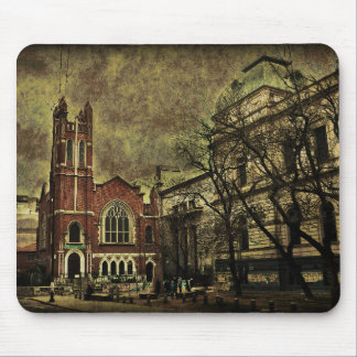 Dark City Photo Collage Mouse Pad