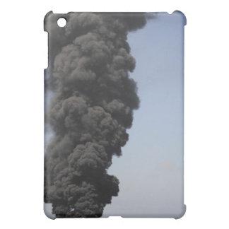 Dark clouds of smoke and fire emerge iPad mini case