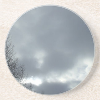 Dark Clouds Over Trees Coaster