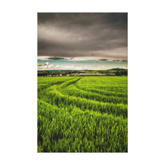 Dark clouds stretched canvas prints