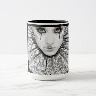 Dark Clown Two-Tone Coffee Mug