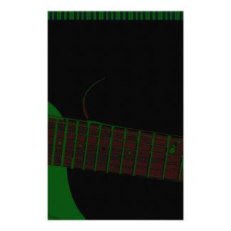 Dark Club Background Stationery Paper