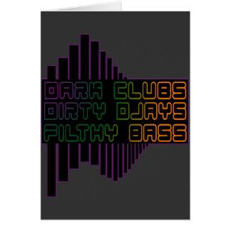 Dark Clubs Dirty Djays Filthy Bass CLUB DJ Greeting Card