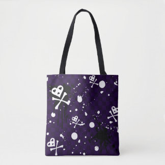 Dark Color Emo Pattern With Paint Tote Bag