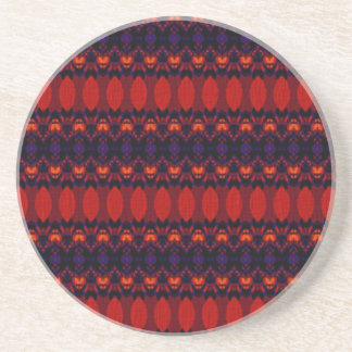 Dark colored pattern coaster