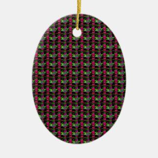 DARK Colored Stripes : Elegant UNIQUE Pattern GIFT Christmas Tree Ornaments