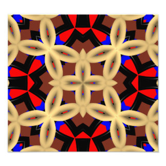 Dark colorful abstract pattern photographic print