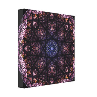 Dark Colors Mandala Canvas Print