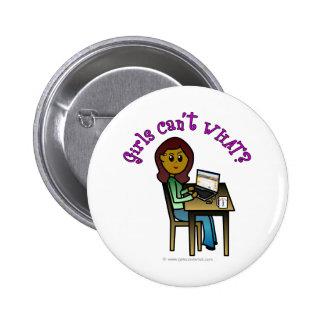 Dark Computer Girl 6 Cm Round Badge
