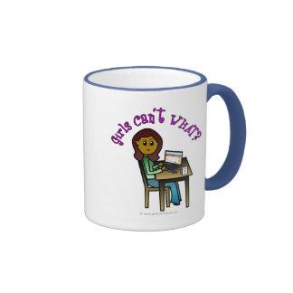 Dark Computer Girl Ringer Mug