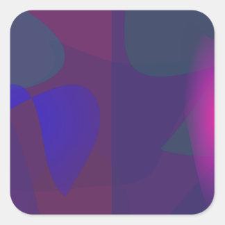 Dark Contrast Square Sticker