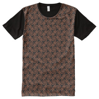 Dark Copper Celtic Spiral All-Over Print T-Shirt