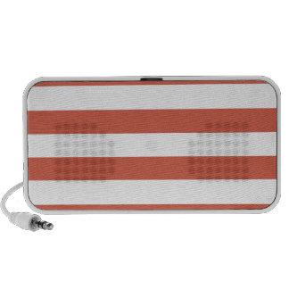 Dark Coral Horizontal Stripes; Striped iPhone Speakers