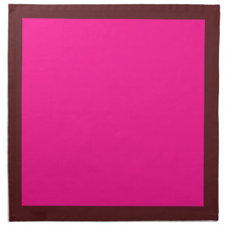 Dark Cranberry and Deep Pink Napkins