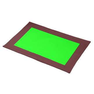 Dark Cranberry and Lime-Colored Placemat