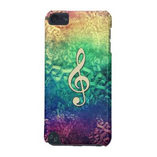 Dark  Crazy Rainbow Music Notes iPod Touch Case