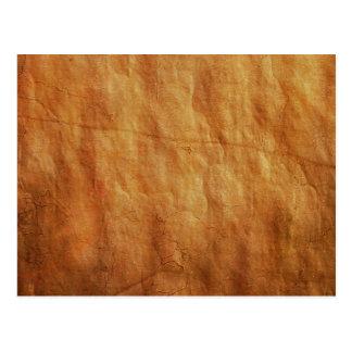 DARK CREAM COFFEE PAPER BROWN WRINKLED CRUMPLED TE POSTCARD