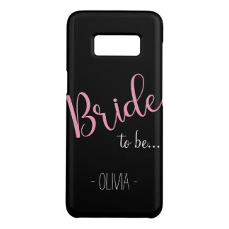 Dark Custom Name Samsung Bride to be Case