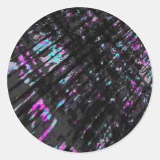 Dark Customizable Grungy Background Round Sticker