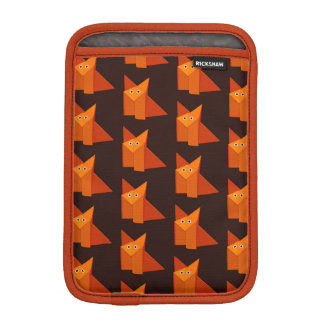 Dark Cute Origami Fox Pattern iPad Mini Sleeve