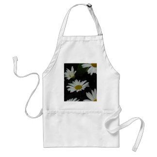 Dark Daisies 2 Flowers Americana Folk Art Apron