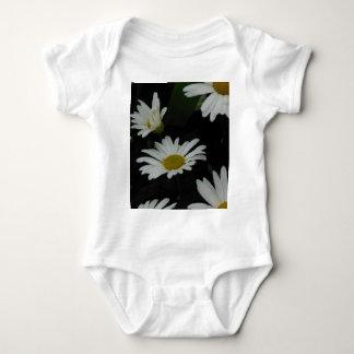 Dark Daisies 2 Flowers Americana Folk Art Baby Bodysuit