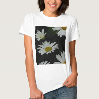 Dark Daisies 2 Flowers Americana Folk Art T Shirt