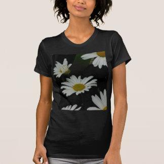 Dark Daisies 2 Flowers Americana Folk Art T-Shirt