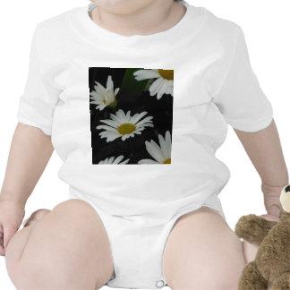 Dark Daisies 2 Flowers Americana Folk Art Bodysuit