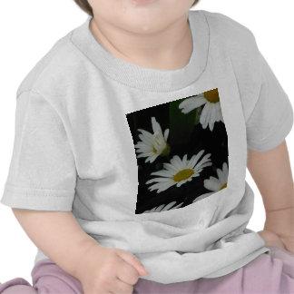 Dark Daisies 2 Flowers Americana Folk Art Tshirts