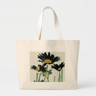 Dark Daisies Large Tote Bag