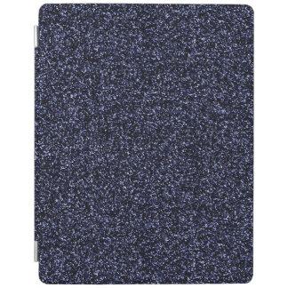 Dark dark blue glitter iPad cover