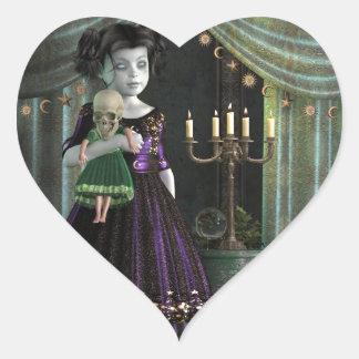 Dark Dawn Heart Sticker
