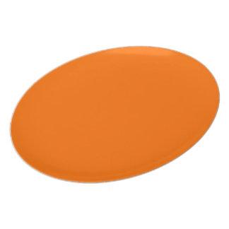 Dark Deep Pumpkin Orange Creepy Hollow Halloween Plate