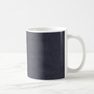 Dark Denim Seam Basic White Mug