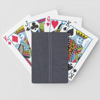 Dark Denim Seam Poker Deck